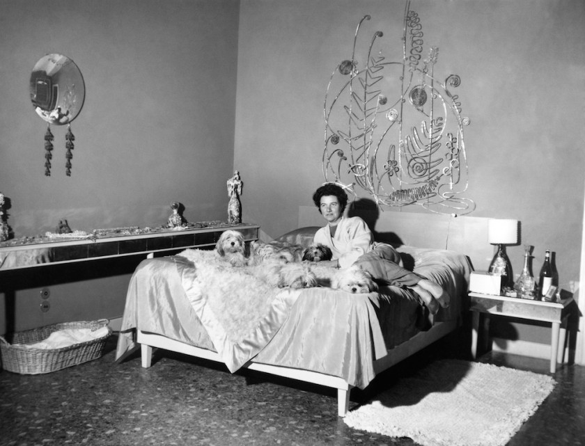 Unknown Photographer / Peggy Guggenheim in her bedroom, Palazzo Venier dei Leoni, Venice. Courtesy of Peggy Guggenheim Collection Archives, Venice
